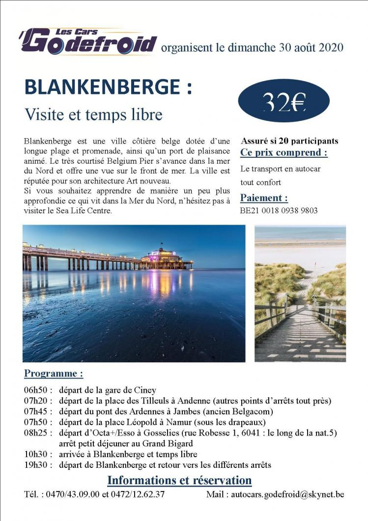 Affiche blankenberge 30 aout