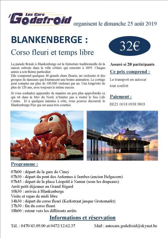 Affiche blankenberge corso fleuri 25 aout 2
