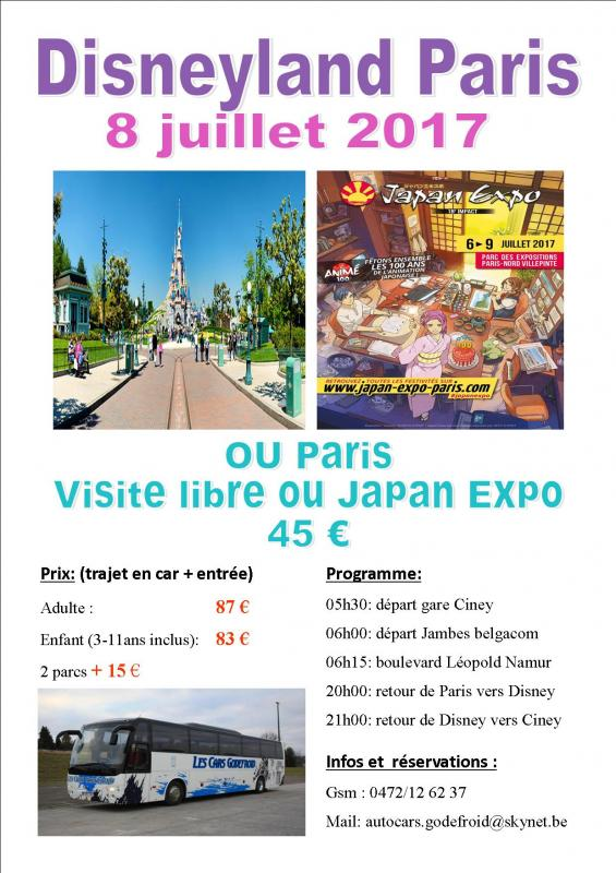 Affiche disney et paris shopping 0807