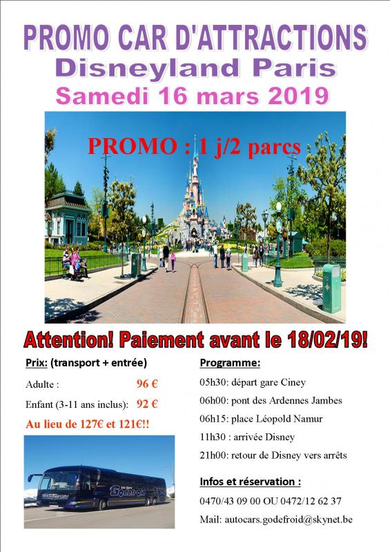 Affiche disney et paris shopping 16032019 2