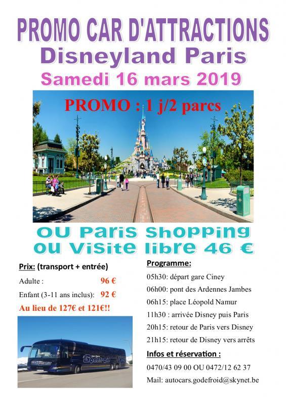 Affiche disney et paris shopping 16032022