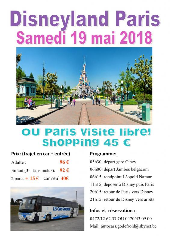 Affiche disney et paris shopping 190518