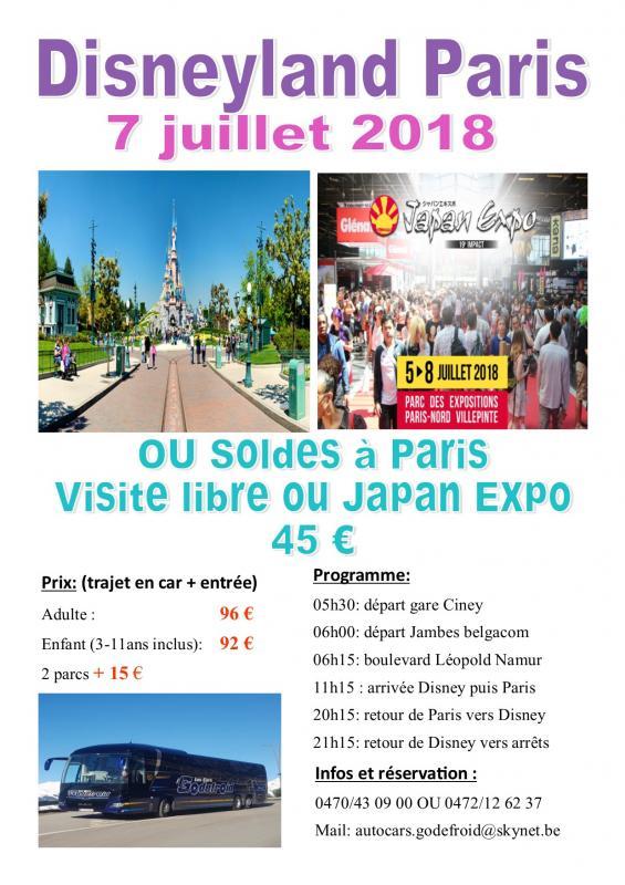 Affiche disney et paris shopping 7072019