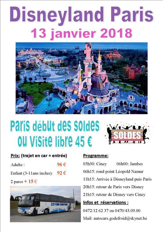 Affiche disney et paris soldes shopping 13012018