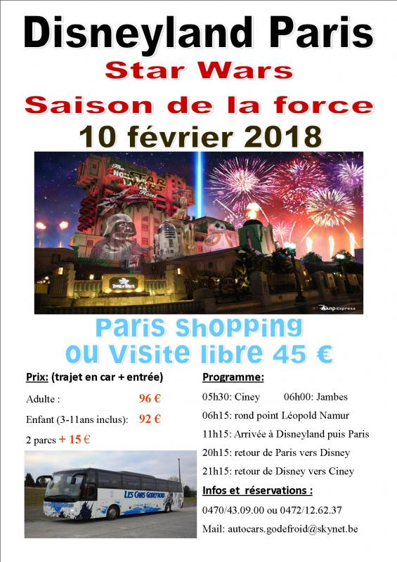 Affiche disney star wars et paris shopping 10022018