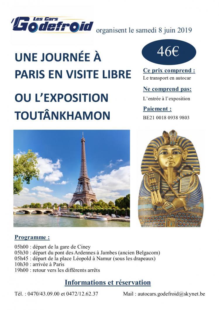 Affiche expo toutankhamon paris 8 juin