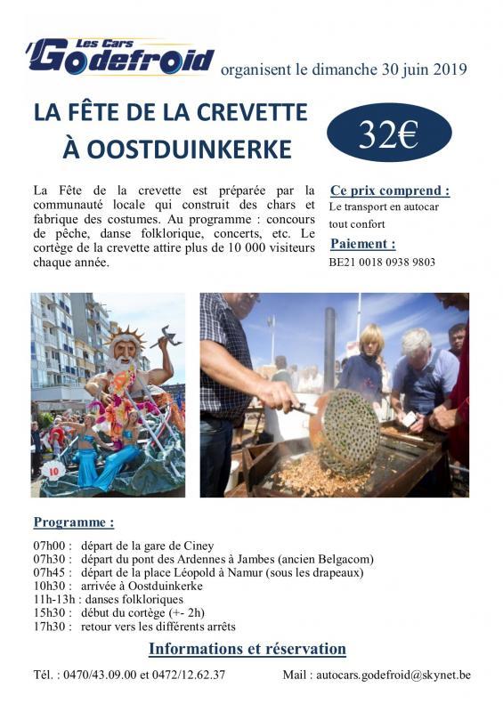 Affiche fete de la crevette oostduinkerke 30 juin