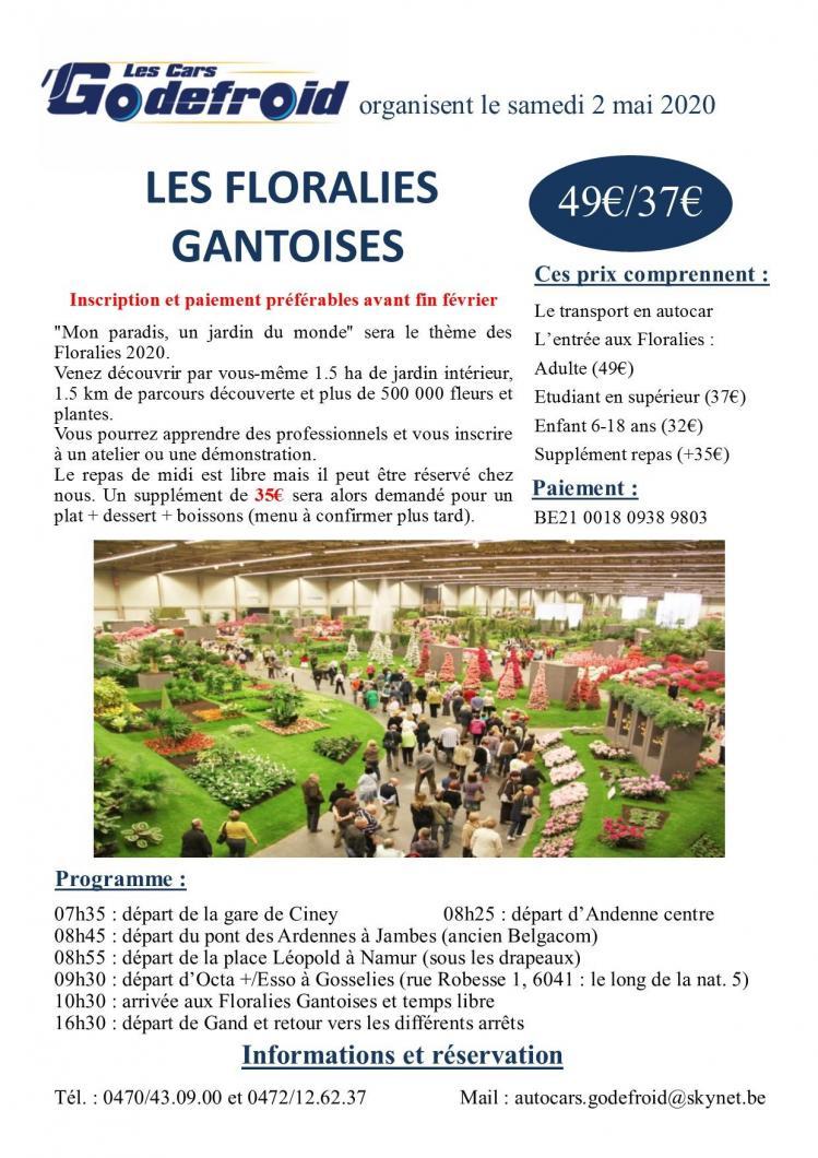 Affiche floralies gantoises 2 mai 2