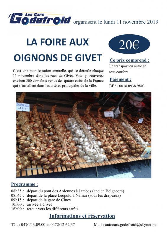 Affiche foire aux oignons givet 11 novembre