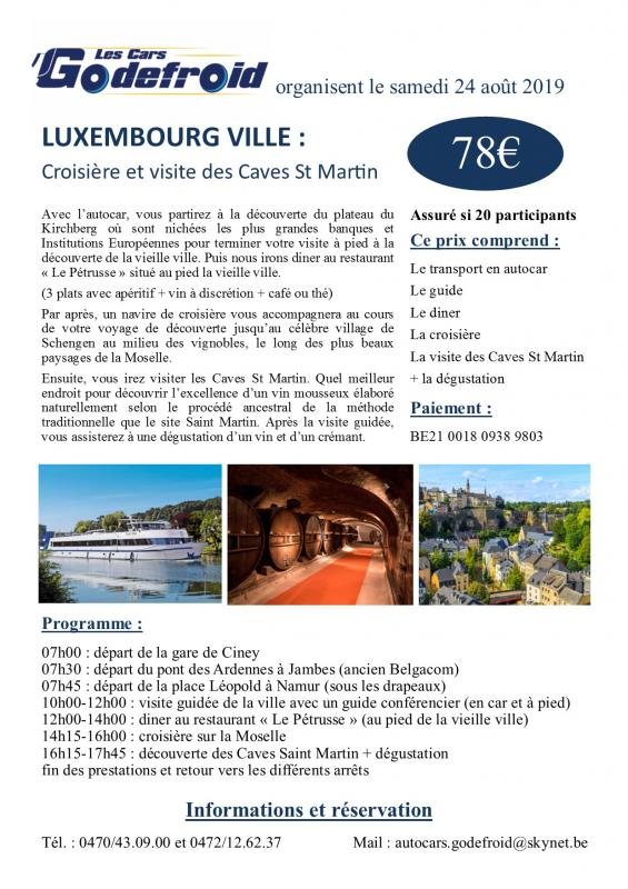 Affiche luxembourg ville 24 aout