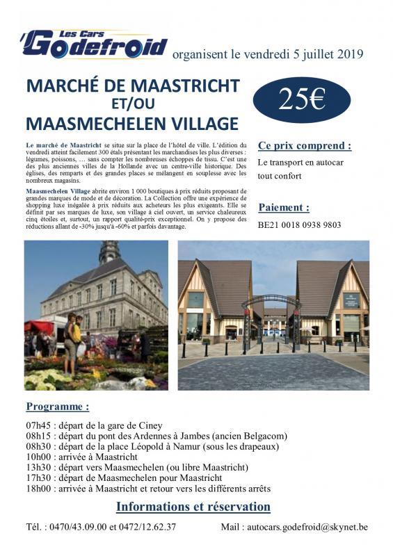 Affiche maastricht et maasmechelen village 5 juillet