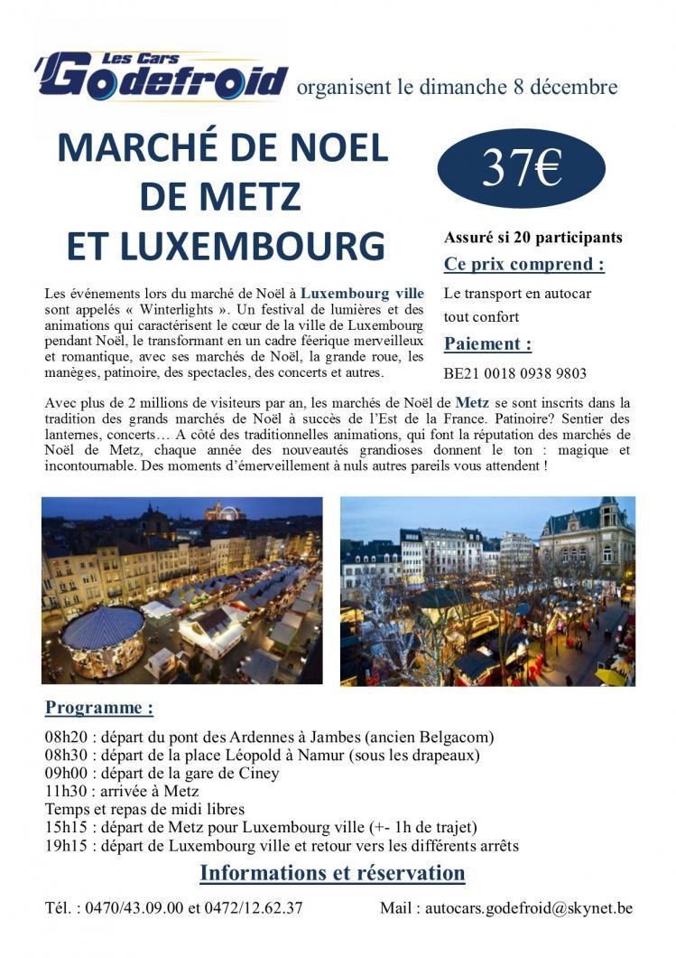Affiche marche de noel metz et luxembourg 8 decembre 1