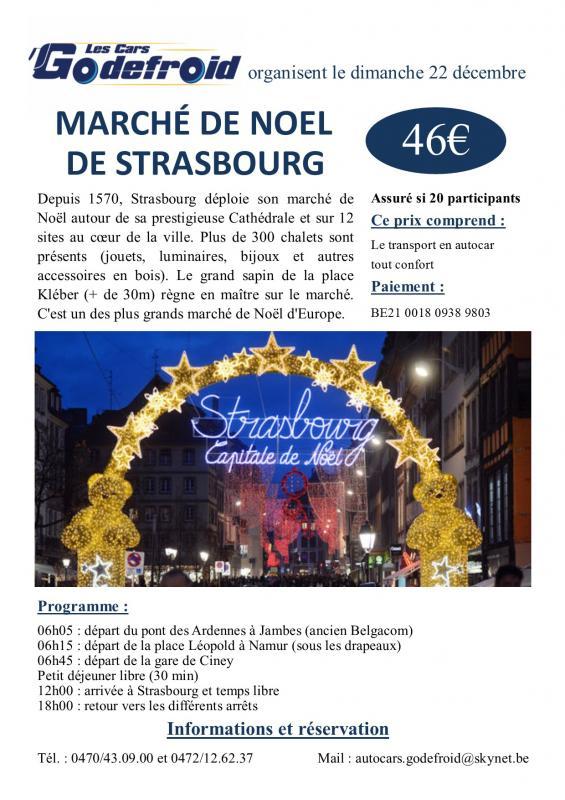 Affiche marche de noel strasbourg 22 decembre