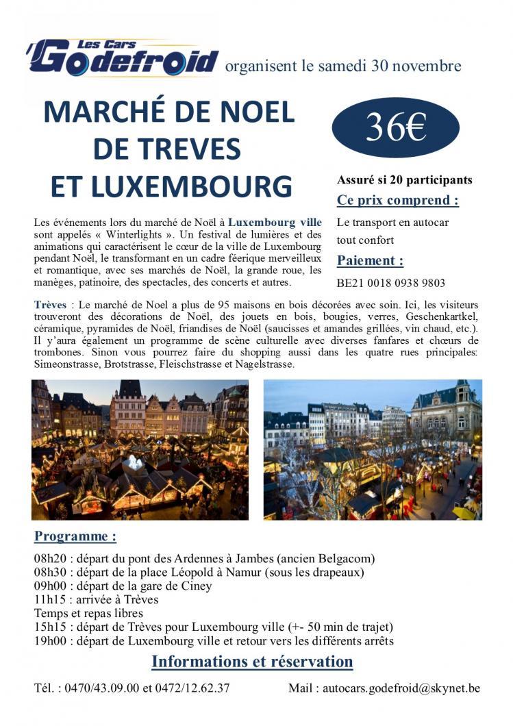 Affiche marche de noel treves et luxembourg 30 novembre