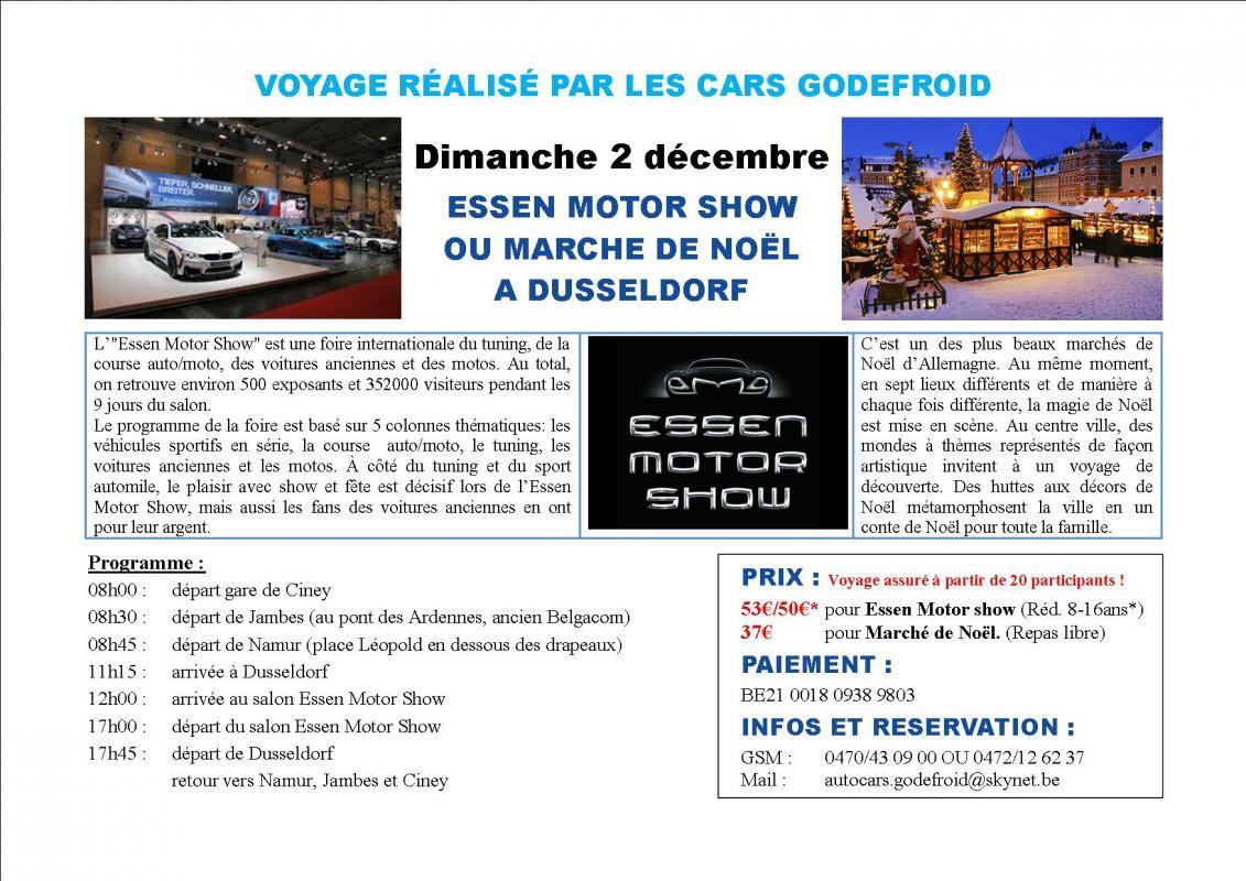 Affiche marche noel dusseldorf essen motor show 02122018
