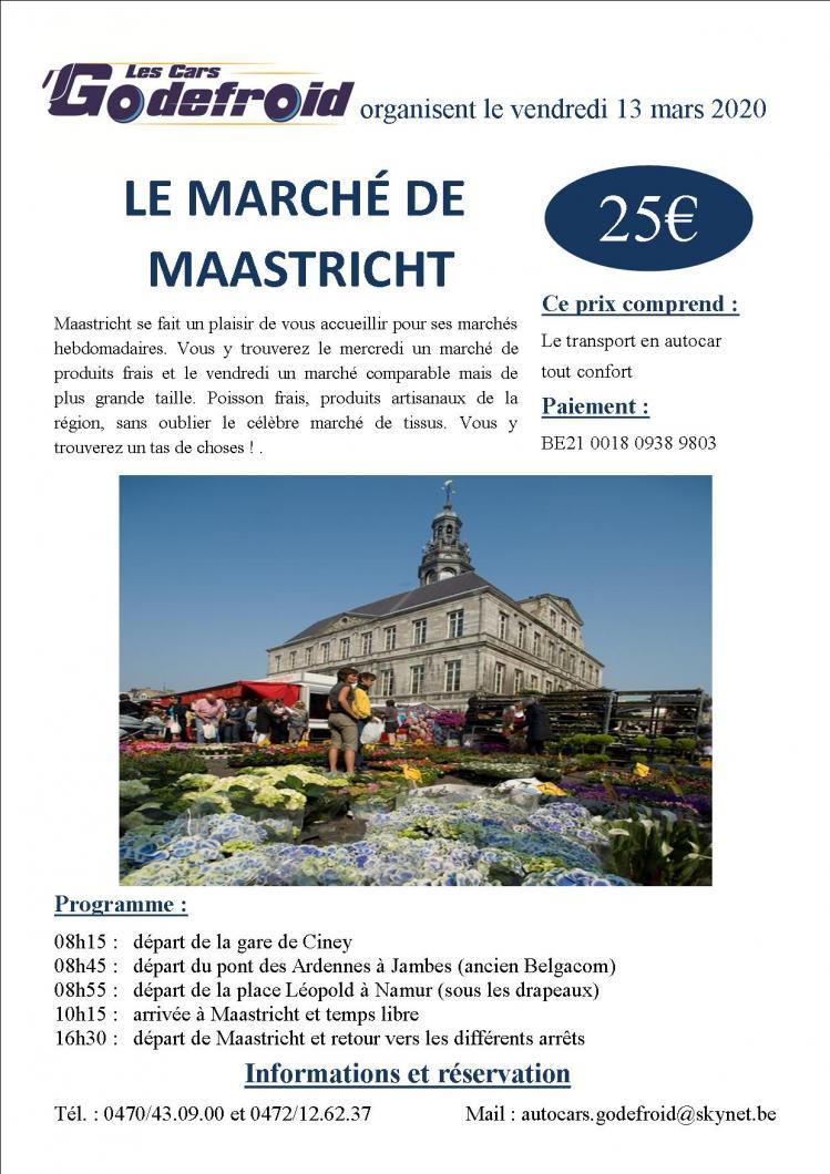 Affiche marches de maastricht 13 mars