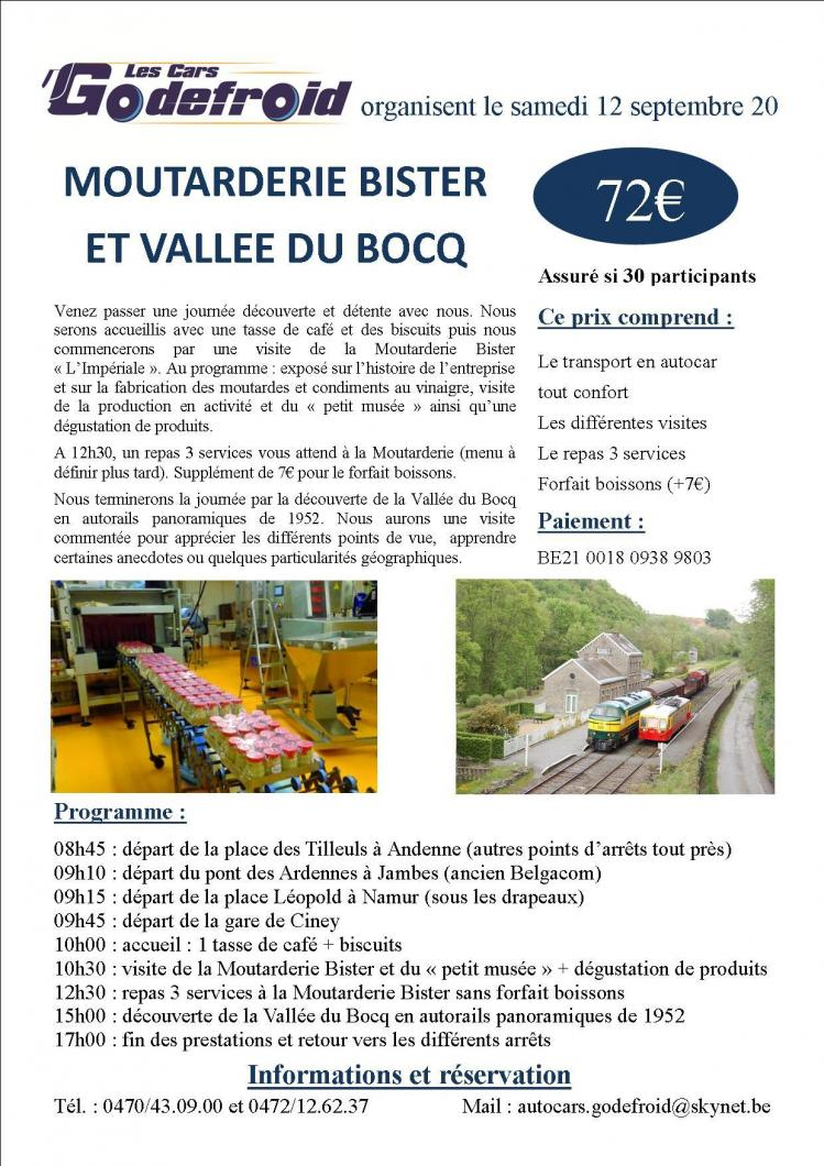 Affiche moutarderie bister vallee du bocq 12 septembre
