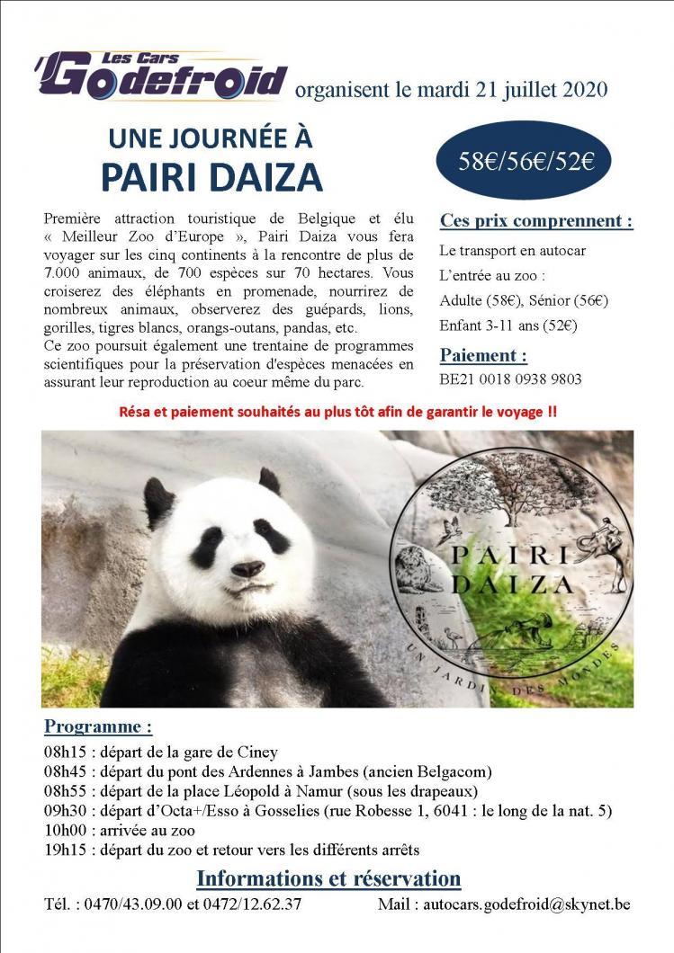 Affiche pairi daiza 21 juillet 1