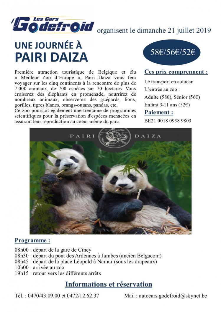 Affiche pairi daiza 21 juillet