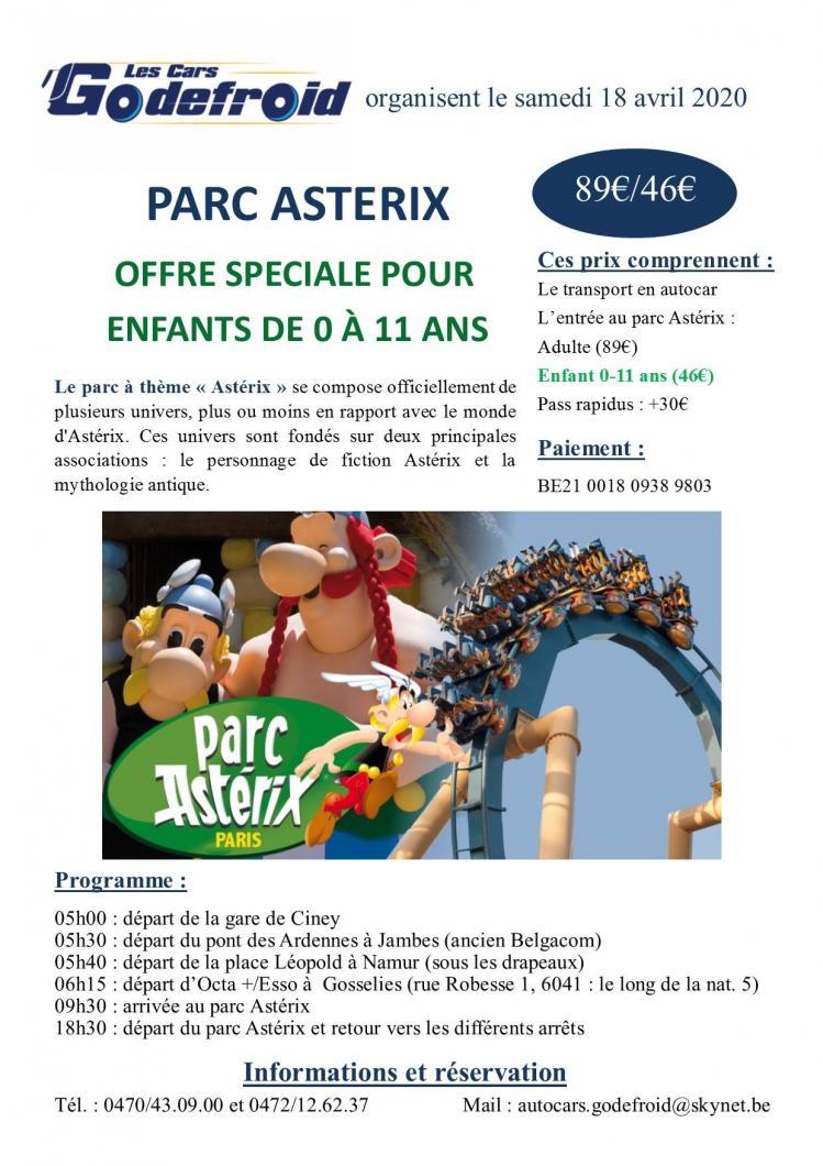 Affiche parc asterix 18 avril 1