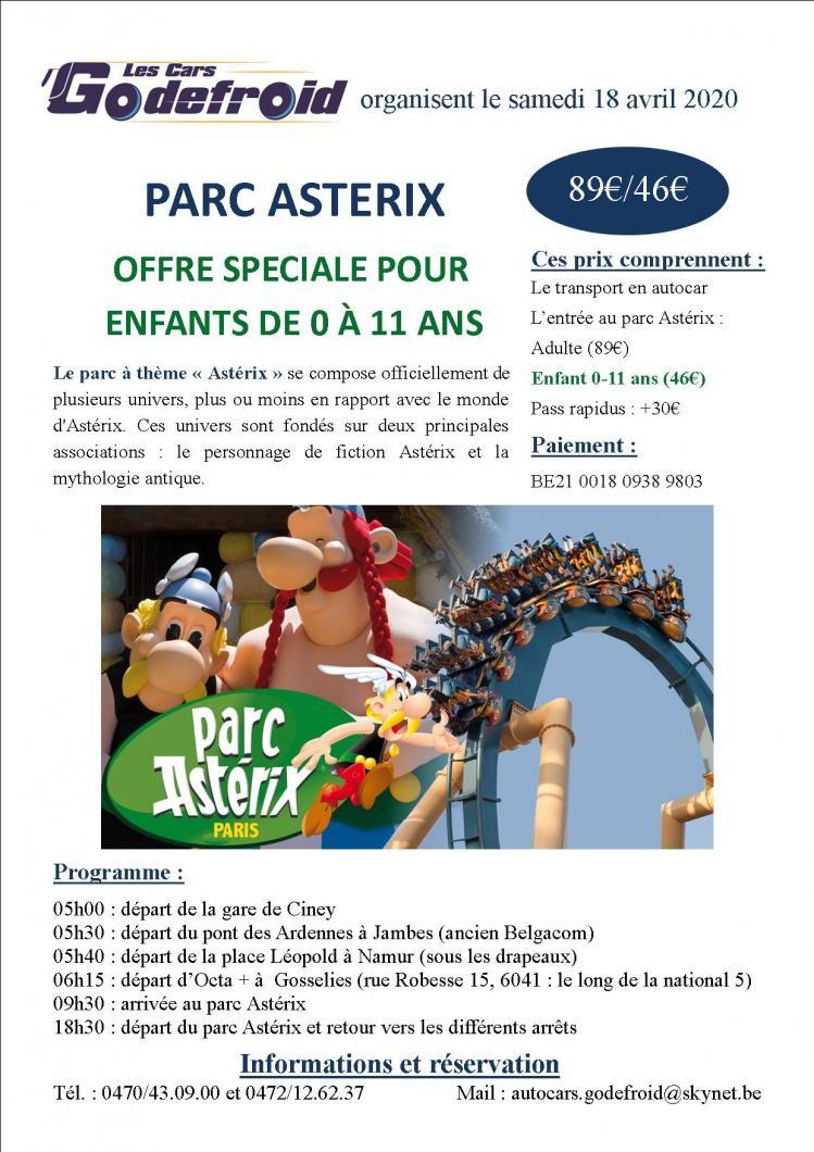Affiche parc asterix 18 avril
