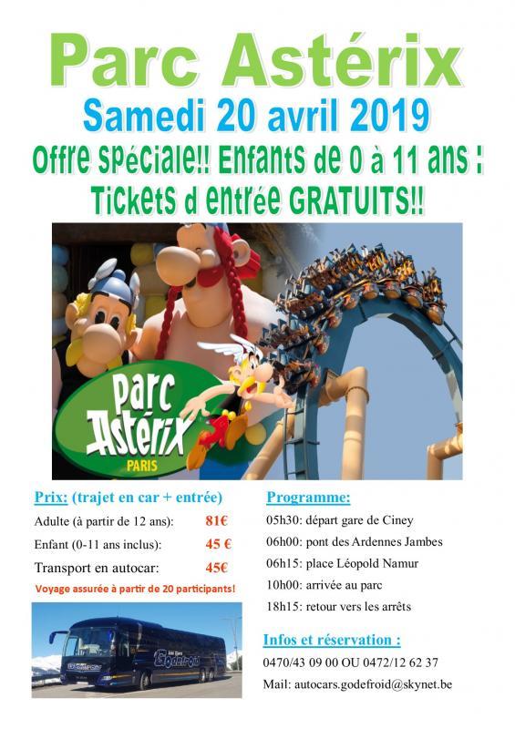 Affiche parc asterix 20042020