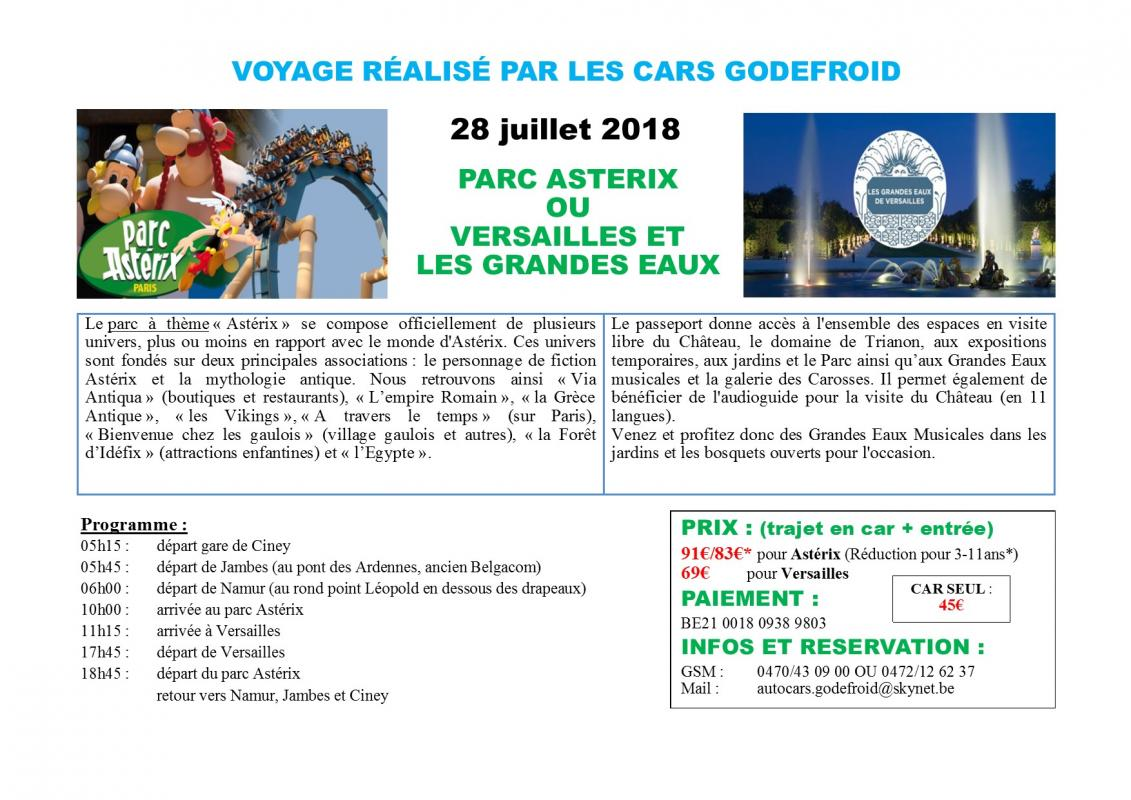 Affiche parc asterix et versailles 28072018