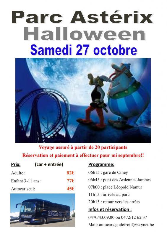 Affiche parc asterix halloween 27102018