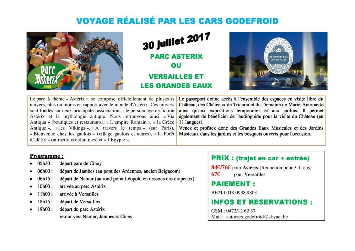 Affiche parc asterix ou versailles 30072017