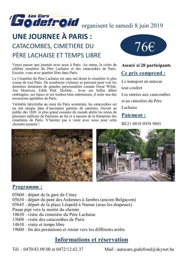Affiche paris catacombes 8 juin