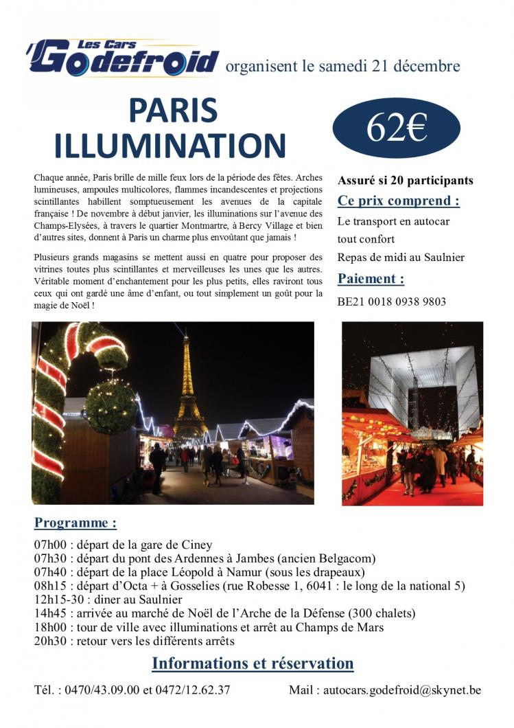 Affiche paris illumination 21 decembre