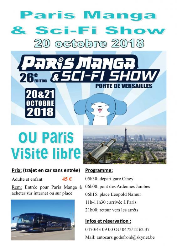 Affiche paris shopping et paris manga 20102018