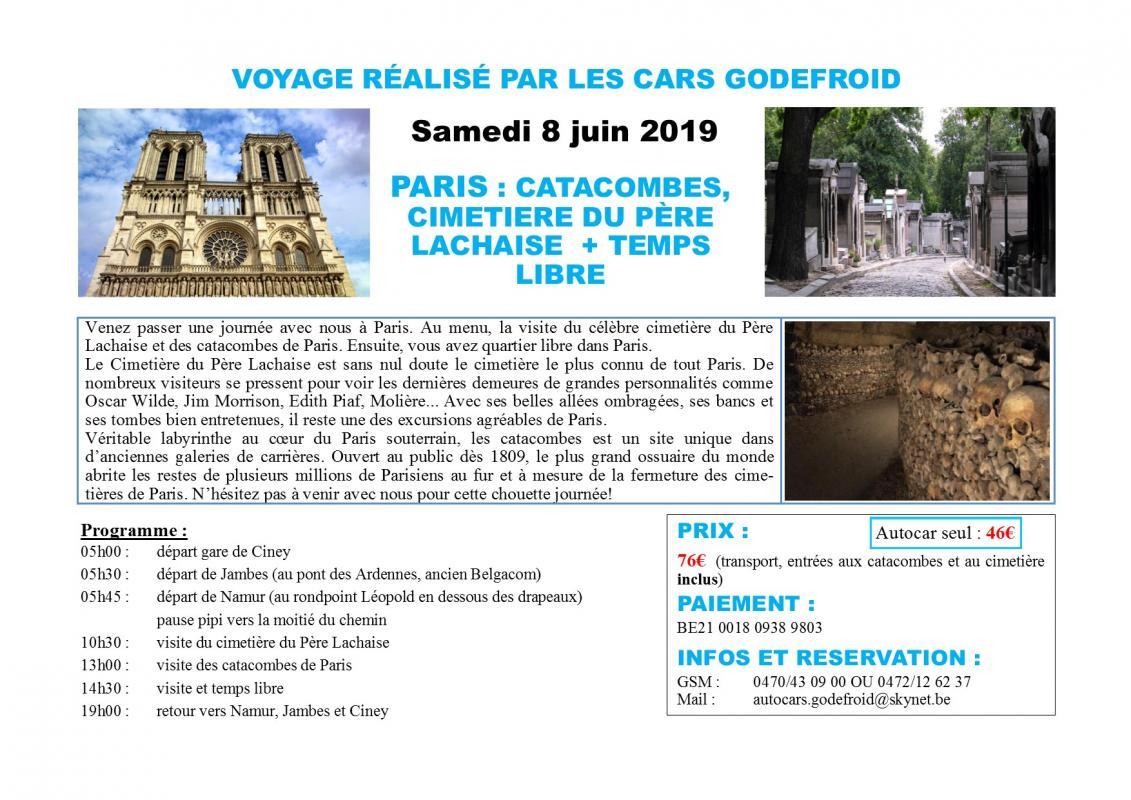Affiche paris visite cimetiere et catacombes 08062019