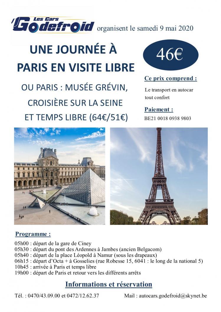 Affiche paris visite libre 9 mai