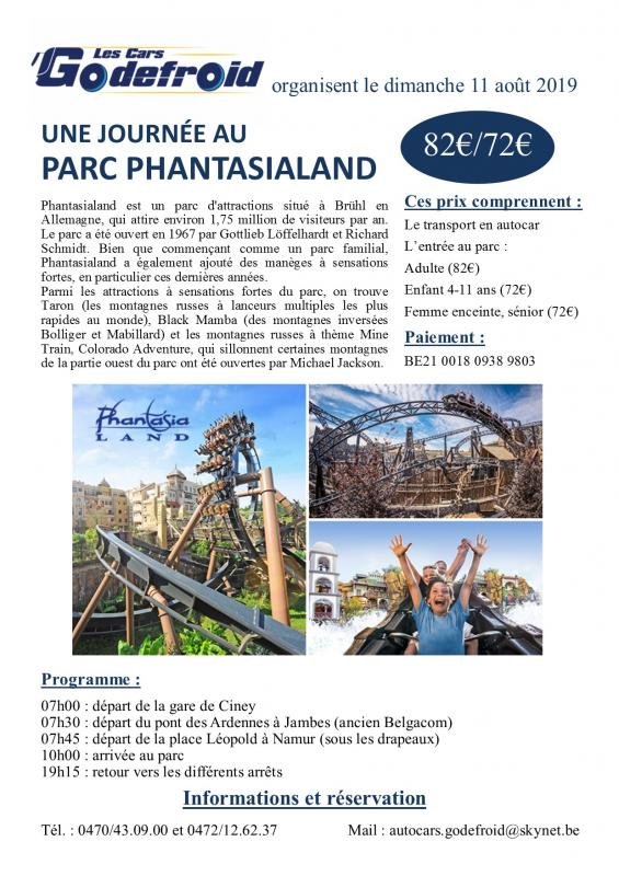 Affiche phantasialand 11 aout