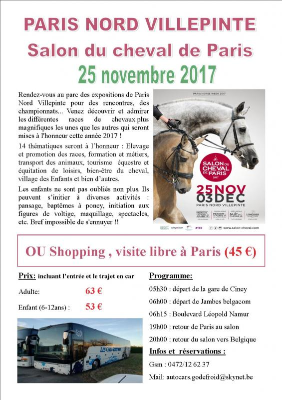 Affiche salon du cheval paris 25112017