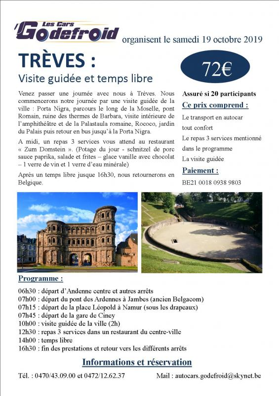 Affiche treves 19 octobre