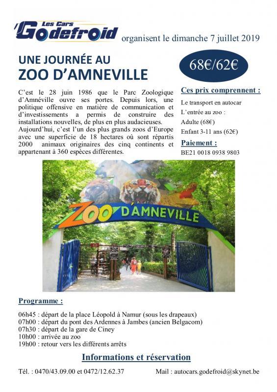 Affiche zoo amneville 7 juillet