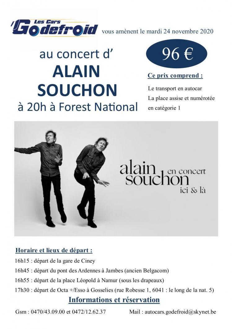 Alain souchon concert novembre 2021