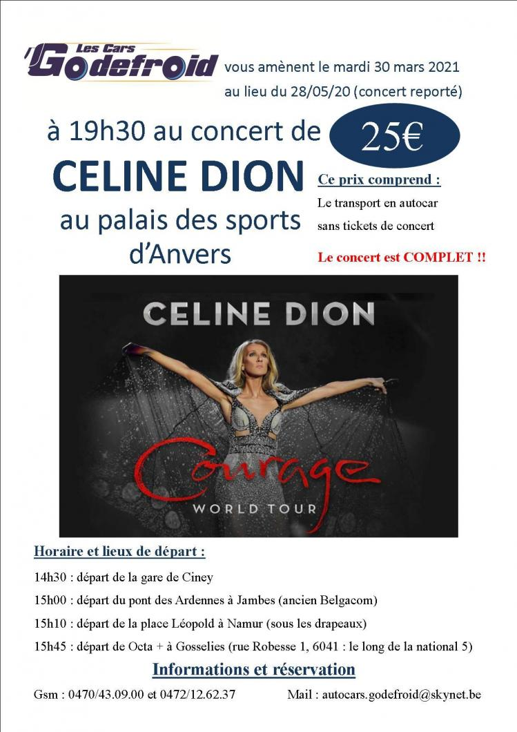 Celine dion concert 30 mars 2021 reporte 28 mai 2020 3