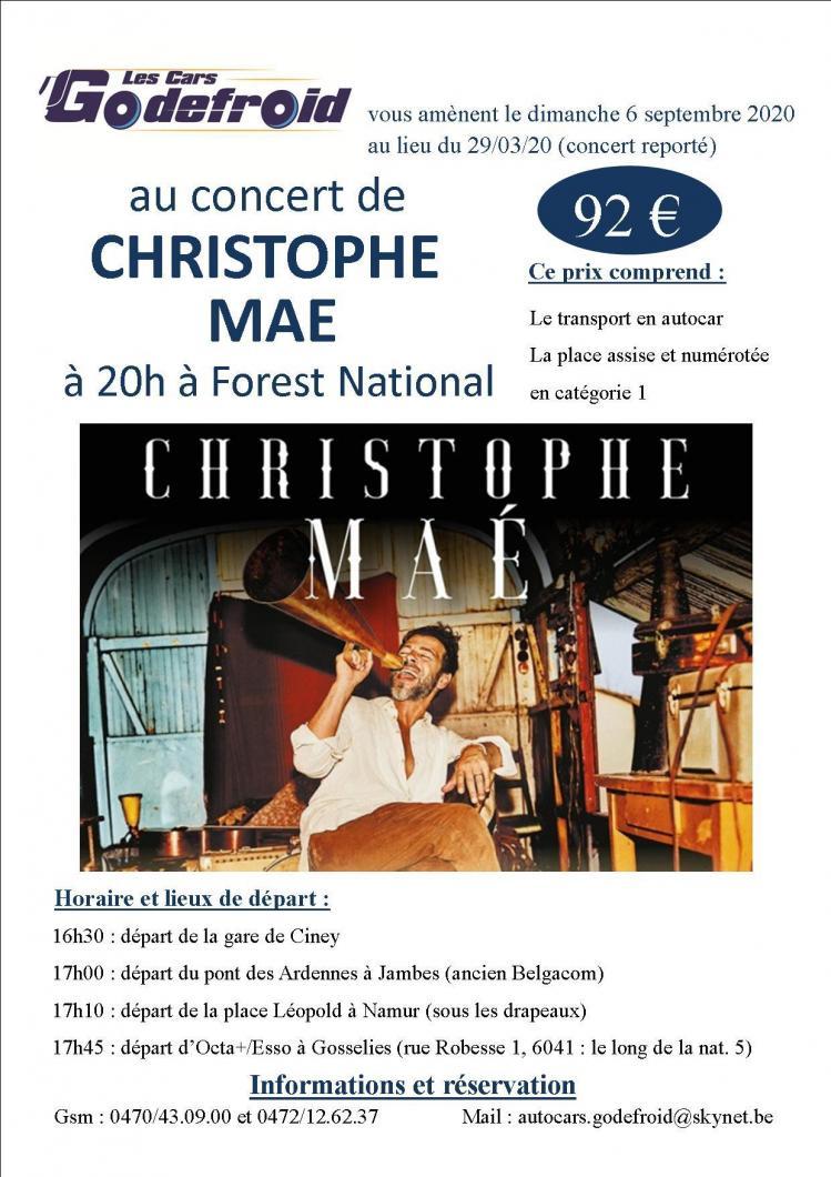 Christophe mae concert mars reporte en septembre