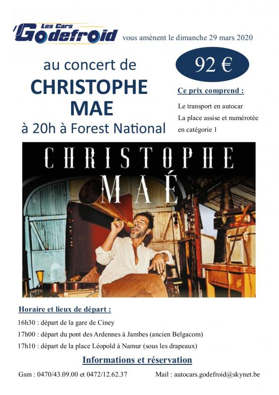 Christophe mae concert mars