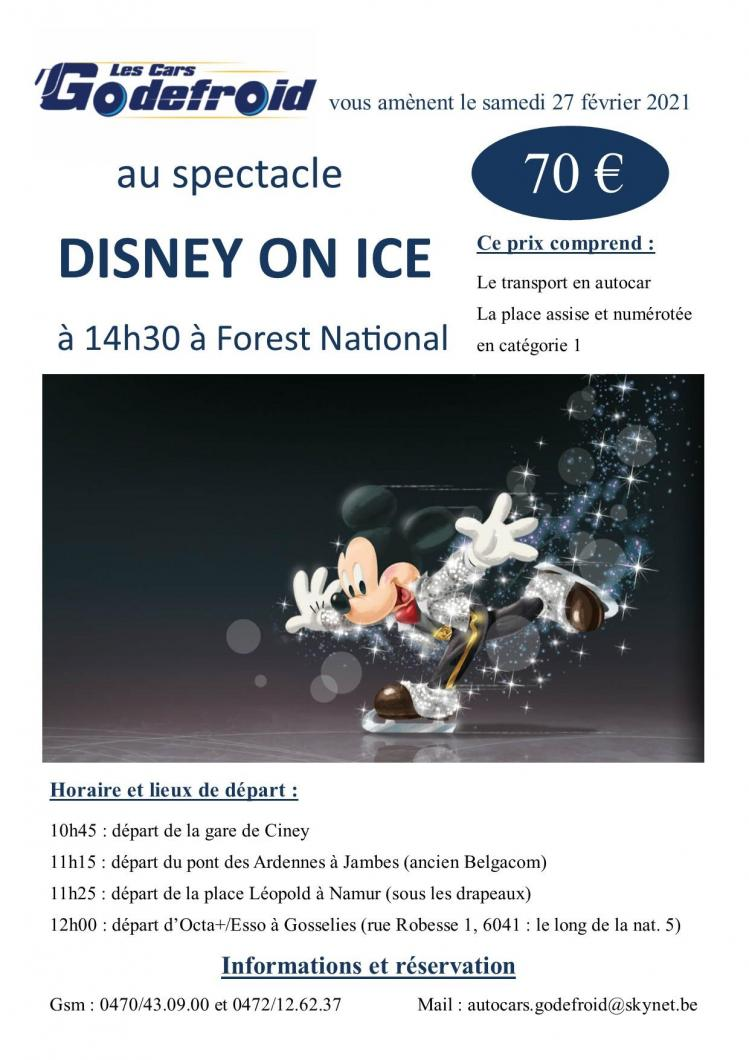 Disney on ice spectacle 27 fev