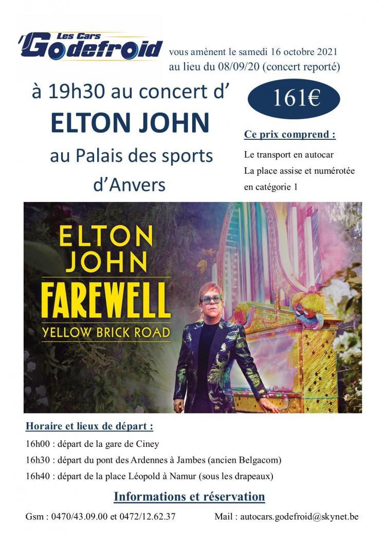 Elton john 16 octobre 2021 concert reporte 8 septembre 2020