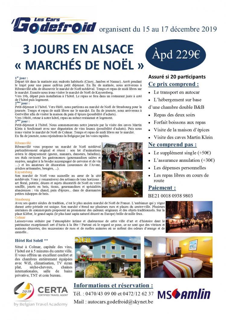 Marche de noel alsace 3 jours 15 au 17 12 19