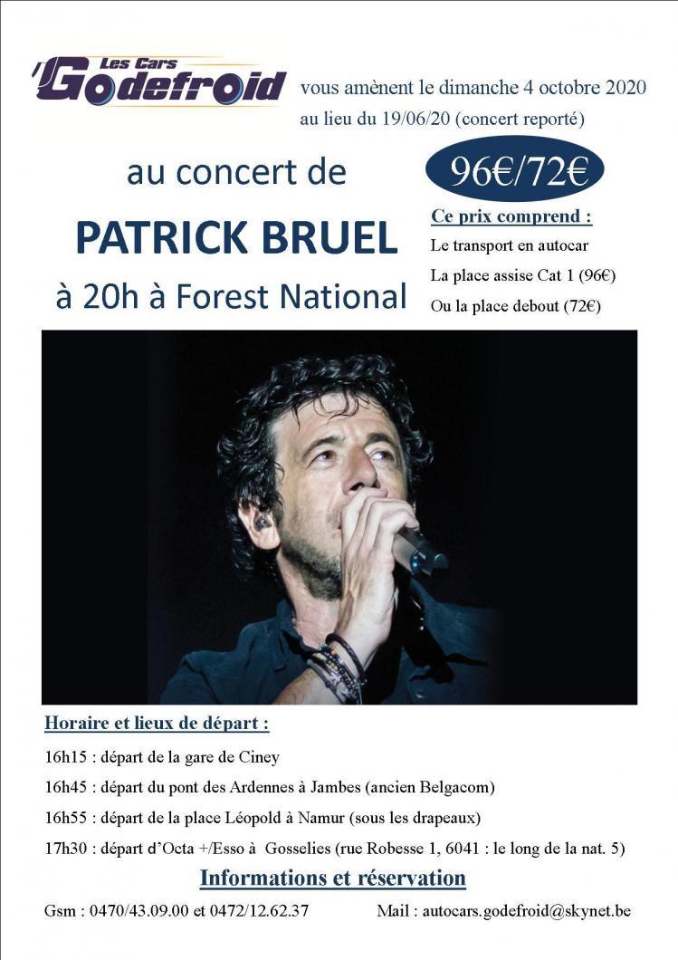 Patrick bruel concert juin 2020 reporte octobre