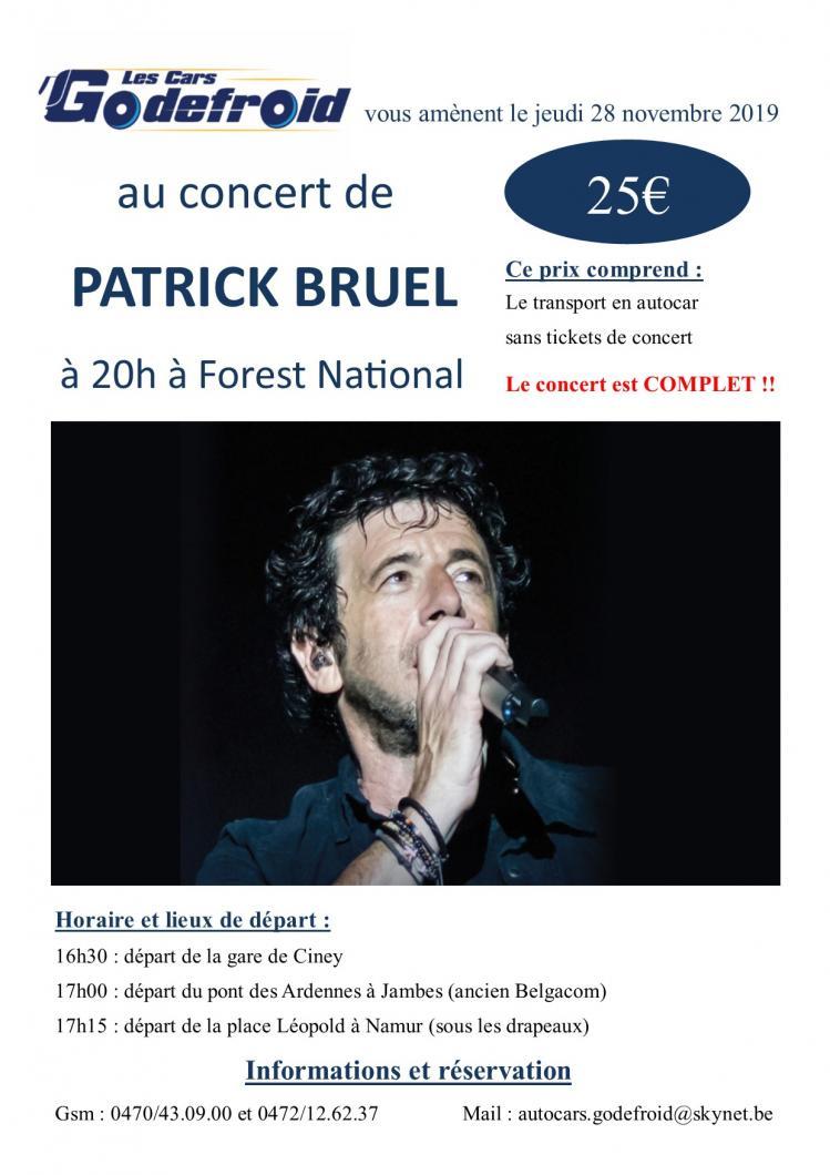 Patrick bruel concert novembre 4
