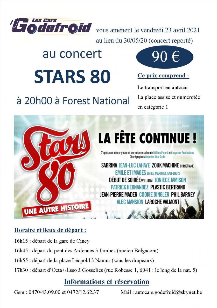Stars 80 23 avril reporte 30 mai concert