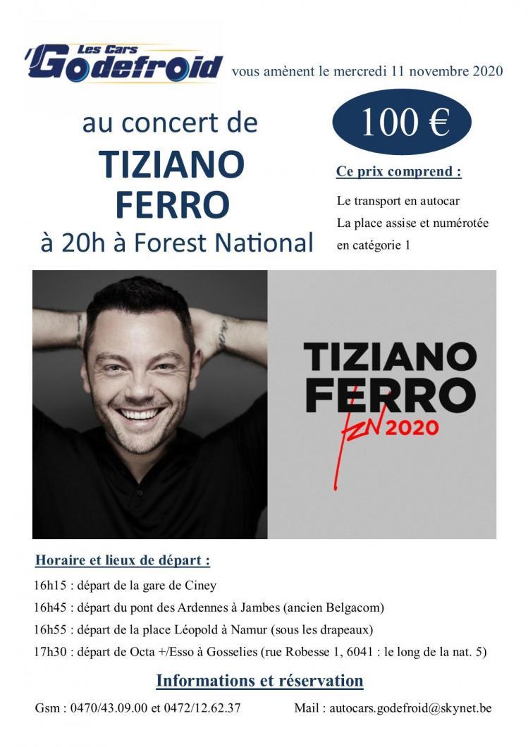 Tiziano ferro concert novembre 1