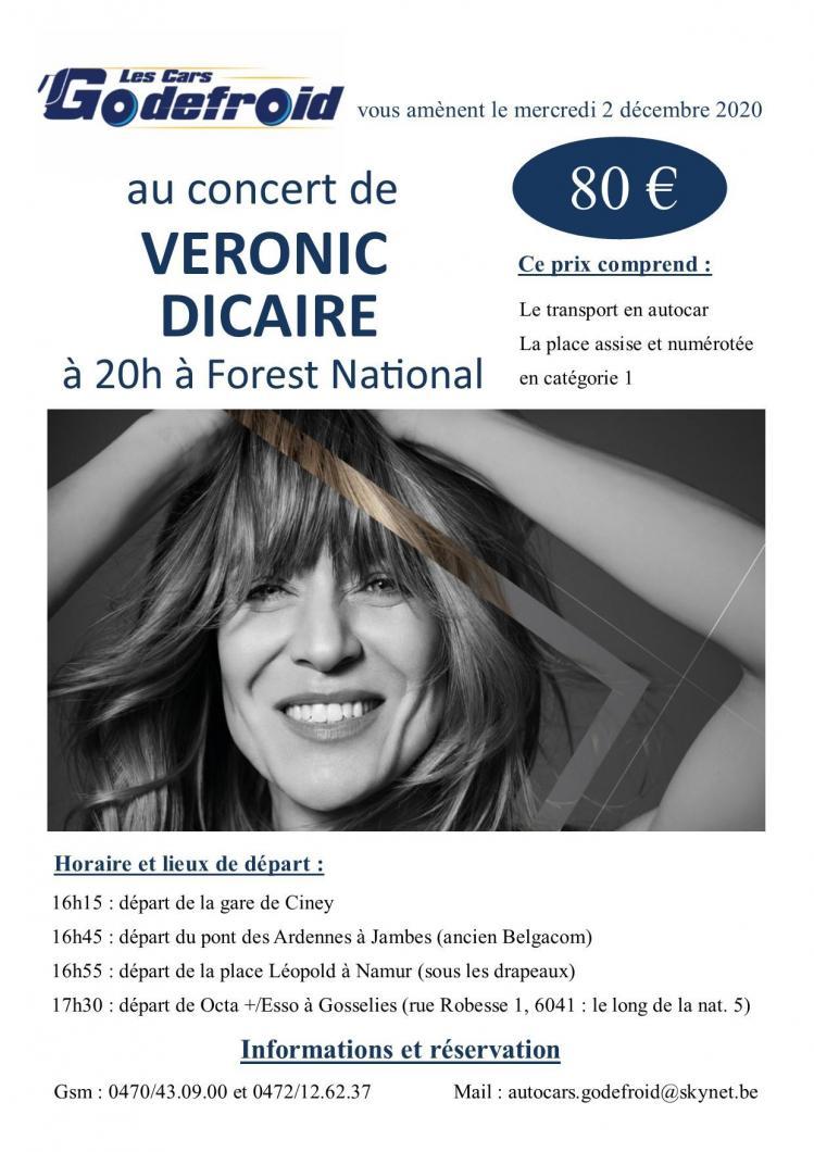 Veronic dicaire concert decembre 1